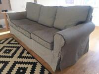 Three seater sofa IKEA ektorp blue white stripe