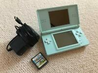 Nintendo DS Pale Blue with Mario Bros Game