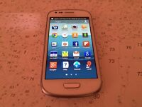SAMSUNG GALAXY S3 MINI - 8GB STORAGE - FACTORY UNLOCKED TO ALL NTWORKS