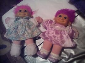 2 original troll dolls