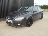 2007 (57) Audi A4 2.0 TDI S Line 4dr Sat Nav Rs4 Style Wheels 2 Keys Service Hist Diesel May Px
