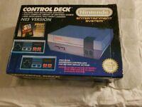 Boxed Nintendo NES console