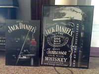 2 Jack Daniels pictures one 3D one large with frame