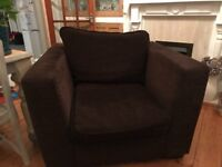 Large Chocolate Coloured Chair Free need gone ASAP