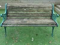 Wood/Metal garden bench