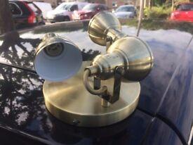 3 Way Adjustable Ceiling Spotlight in Antique Brass