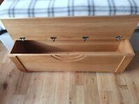 Genuine Oak Wood Storage Chest