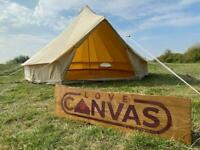 Brand New 4m Bell Tent - Cotton Canvas Zipped in Groundsheet - Camping Yurt Tent