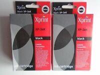Xprint Canon Compatible Black Ink Cartridges x 2, For Canon Printers, XP-3eK
