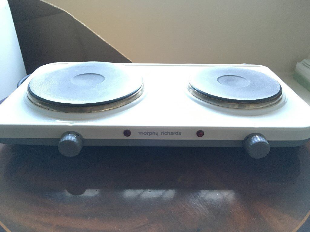 Morphy Richards Double Boiling Plate, table top portable electric double hob in excellent condition