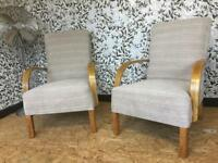 Oak fireside chairs