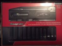 Snap on 17ps 3/8 service set Brand new