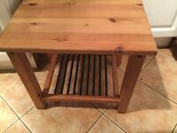 Wooden Side Table, with Underneath Storage. Reduced for quick Sale