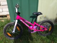 Girls Specialized Hotrock 16, with detachable stabilisers