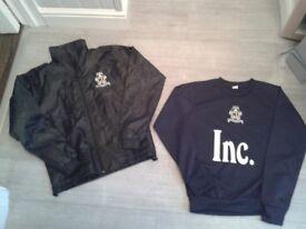 Cambridge United rain/waterproof jacket and matching sweatshirt - Age 10/11yrs