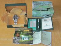 rolex sea dweller with original receipte rolex service papers box/paperwork etc