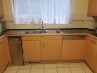 Used Kitchen (in very good condition) with black granite worktop