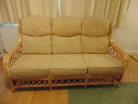 Cane 3-seater sofa