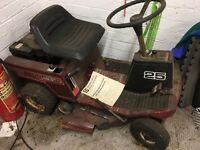 Mountfield 25 ride on lawnmower - needs servicing