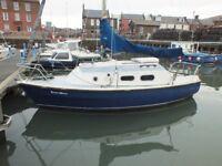 westerly warwick sailing boat with arbroath pontoon berth