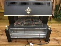 Feature Log Effect Electric fire with 2 heating elements