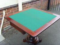 Solid Mahogany card table