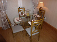 dining room Glass table and 4 chairs