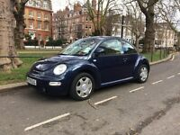 VW Beetle 2.0 blue with cream heated leather
