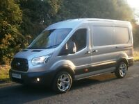 2014(64) Ford Transit L2 H2 MWB 290 125 TREND LIMITED ALLOYS, SILVER, REMAINING WARRANTY, NO VAT!!