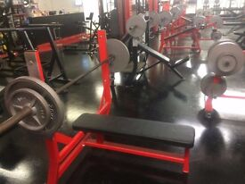 COMMERCIAL GYM EQUIPMENT - BENCHES | PLATES | BARS | RACKS