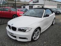 BMW 1 Series 118d SPORT PLUS EDITION 2dr CONVERTIBLE + BLACK LEATHER + FULL SERVICE ... (white) 2012