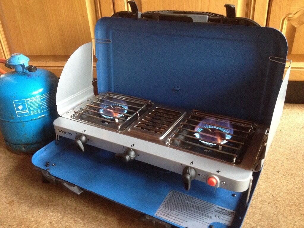 Campingaz Vario Double burner grill and gas bottle