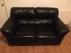 Lovely two piece black leather suite