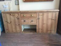7ft Solid Pine Rustic Sideboard