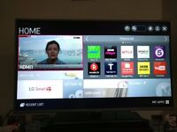 LG 42 inch full HD smart TV in mint condition. Available for collection from 18th Jan