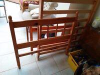 3' single pine bed