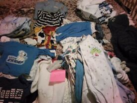 Bundle of boy's baby clothes (0-3 months)