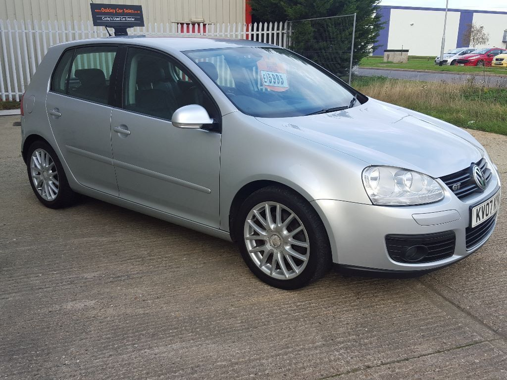 2007 volkswagen golf 2 0 gt tdi 170 bhp 5 door manual in silver great car in corby. Black Bedroom Furniture Sets. Home Design Ideas