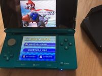 3DS console and games