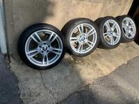 "Genuine BMW 3 4 SERIES 18"" 400M Alloy Wheels & Tyres"
