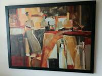 Ikea large framed abstract art oicture