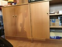 2 Lovely Storage cupboards both with 2 removable shelves in very good condition