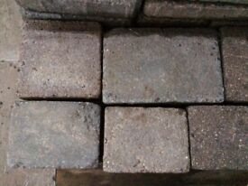 Grey paving stones