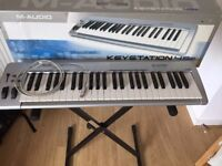 M-Audio Keystation 49e + Keyboard Stand + Cable