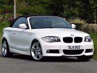 (2011) BMW 120D CONVERTIBLE M SPORT - ALLOYS - LEATHER - FSH - EXCELLENT RATES - FINANCE AVAILABLE