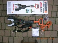Worx Jawsaw complete with extension pole ( chainsaw )