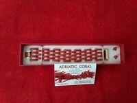 Ladies Gold and Adriatic coral bracelet