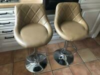 Two quality breakfast bar stools for sale - hardly used