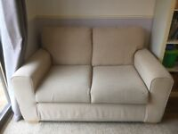 2 Seater Sofa - Natural Fabric Good condition