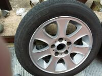 BMW ALLOY WHEEL & TYRE OFF I SERIES - ROCKSTONE 4-5MM - 205/55/16